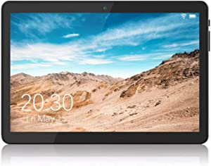 Android Tablet 10 Inch, 5G WiFi Tablet with Dual Camera, 16GB Storage, Android 8.1 Tablets PC, Quad-Core Processor, Google Certified, 1280x800 IPS HD Display, Bluetooth, GPS, FM - Black