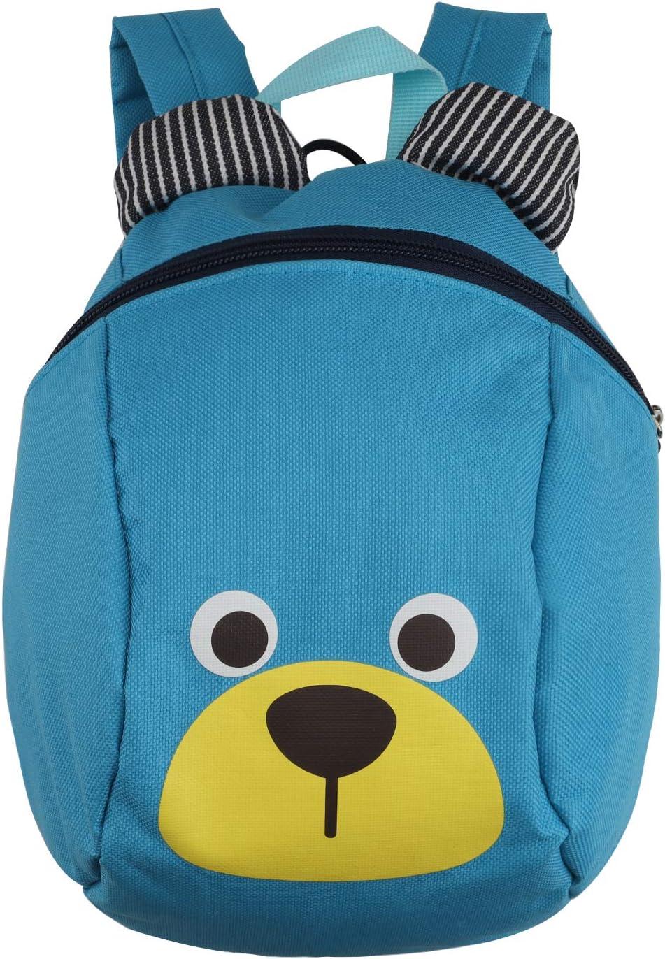 Mochila para niños,TEAMEN® Anti Pérdida de niños Mochila, Mini Oso Escuela Mochila,para bebé niño niña pequeños 1 – 3 AñOS(Azul Claro
