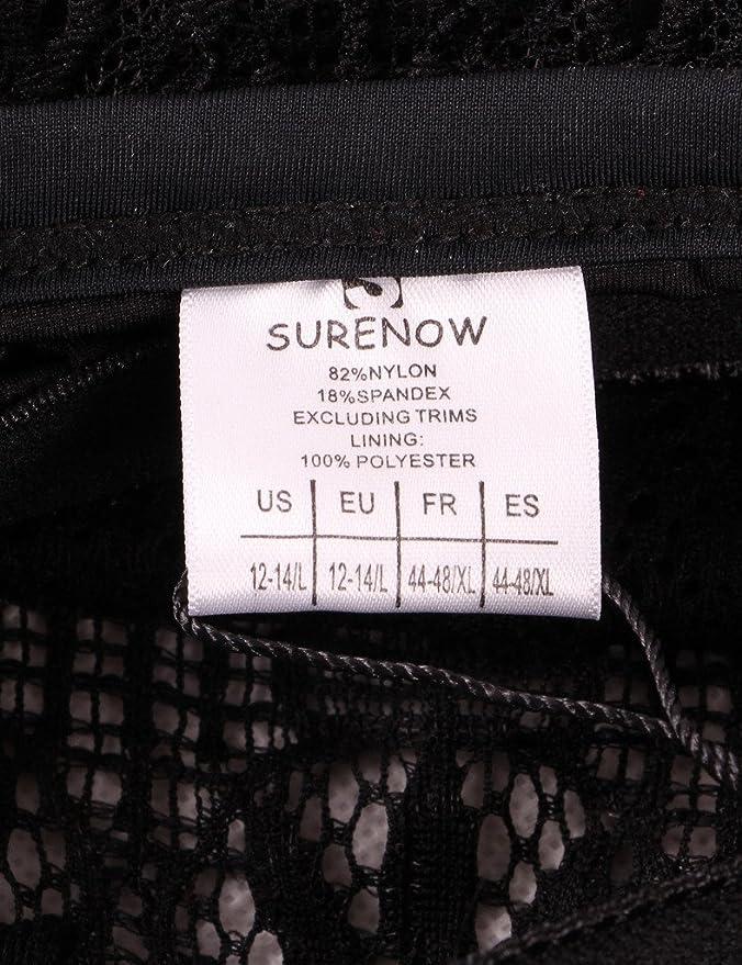 47b6231f119714 Surenow Frauen Damen Elegant Mode Design Strand Einteilige Strick  Badebekleidung Bikini Badeanzug Bademode Schwarz: Amazon.de: Bekleidung