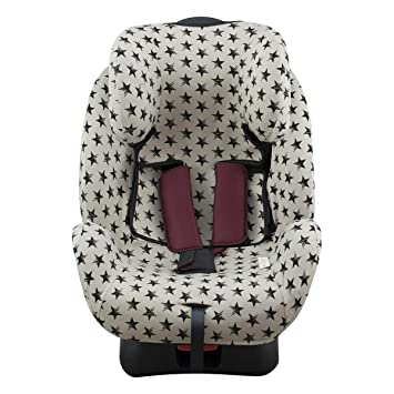 Niko Easy Wash Childrens Car Seat Cover /& Liner Machine Washable Crash Tested Universal FIT Easy to Clean Mess Protection Waterproof SEAT Bottom Cotton Jersey Grey//White Arrow Pattern