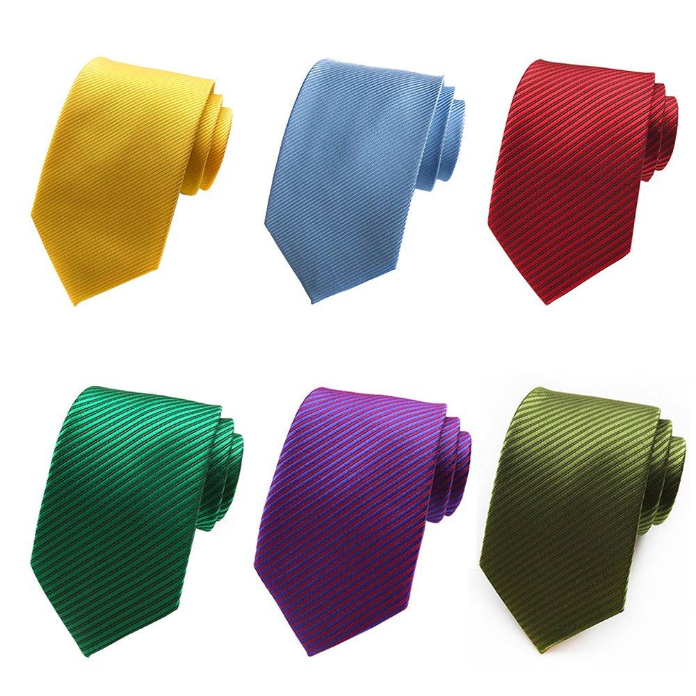 Mens Necktie Paisley Ties for Men Floral Neckties Polyester Jacquard Ties 6 PCS Mantieqingway