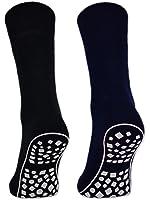 2, 4 oder 6 Paar Damen & Herren ABS Socken Anti Rutsch Socken Stoppersocken Noppensocken Schwarz Blau Grau - 44441 - Sockenkauf24