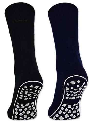 2, 4 oder 6 Paar Damen & Herren ABS Socken Anti Rutsch Socken Stoppersocken Noppensocken Schwarz...