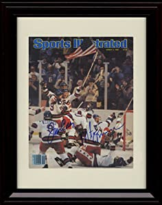 Framed 1980 US Olympic Hockey Sports Illustrated Autograph Replica Print - 3/3/1980