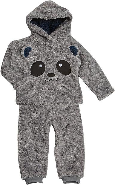 BABYTOWN Bebé 2 Piezas Animal Pijama PJ Set Twosie de franela ...