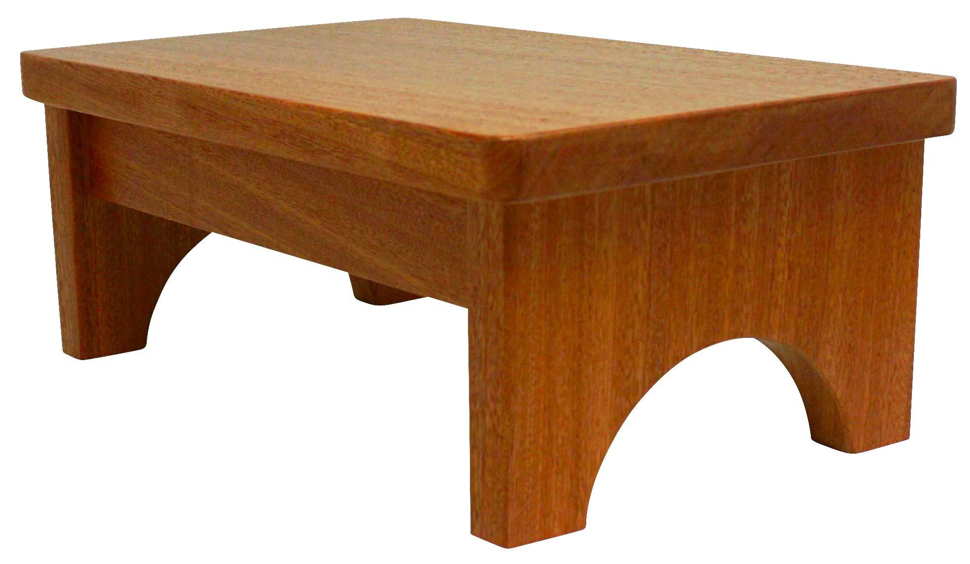 HollandCraft - 5'' Wooden Foot Stool - Hidden Wood Dowels (No Screws, Staples or Nails)