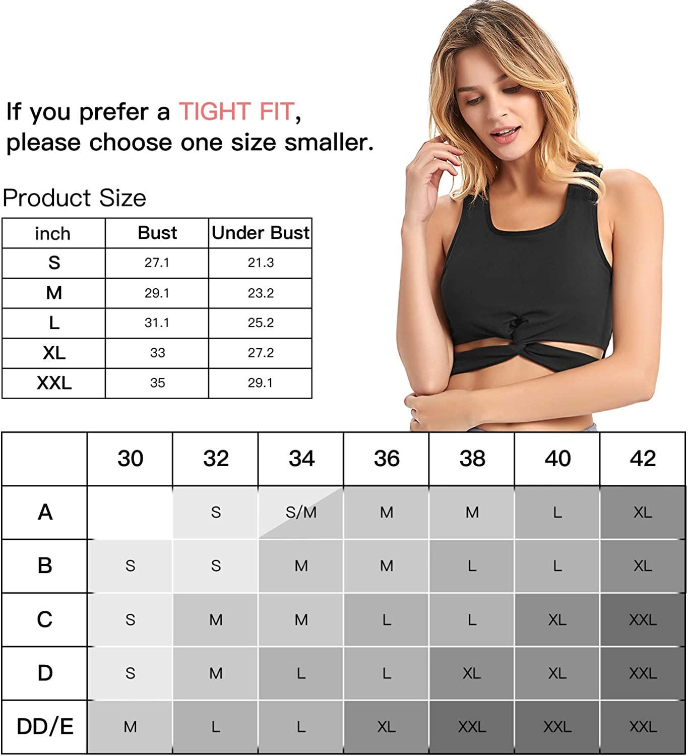 with Removable Pads FIRST WAY Womens Sports Bra Medium Support Front Cross Yoga Bra Lounge Crop Top