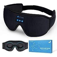 Sleep Headphones Bluetooth Wireless Eye Mask, Sleeping Headphones Mask Upgrade Washable Travel Music Bluetooth Headset…