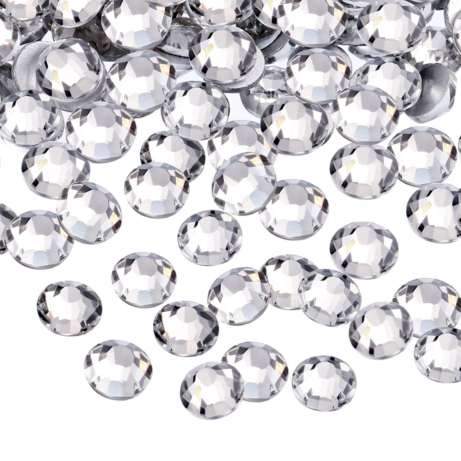 1440 Pack Crystal Flat Back Rhinestone Round Diamante Gems, Non-Self-adhesive (Clear, 4 MM) EBOOT
