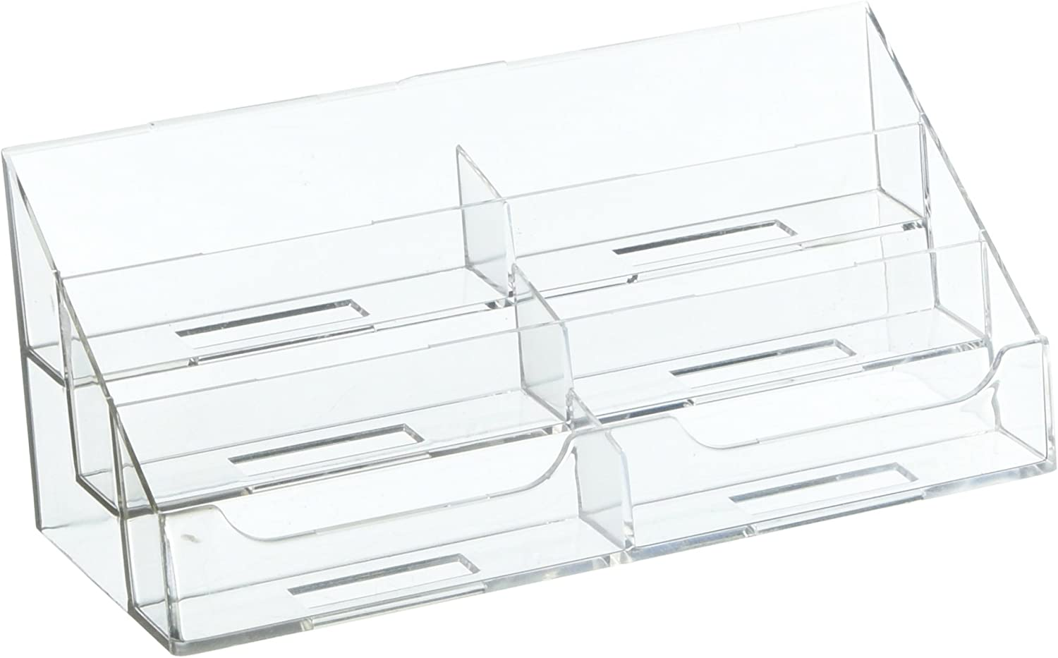 Dazzling Displays Clear 6-Pocket Counter Top Business Card Holder
