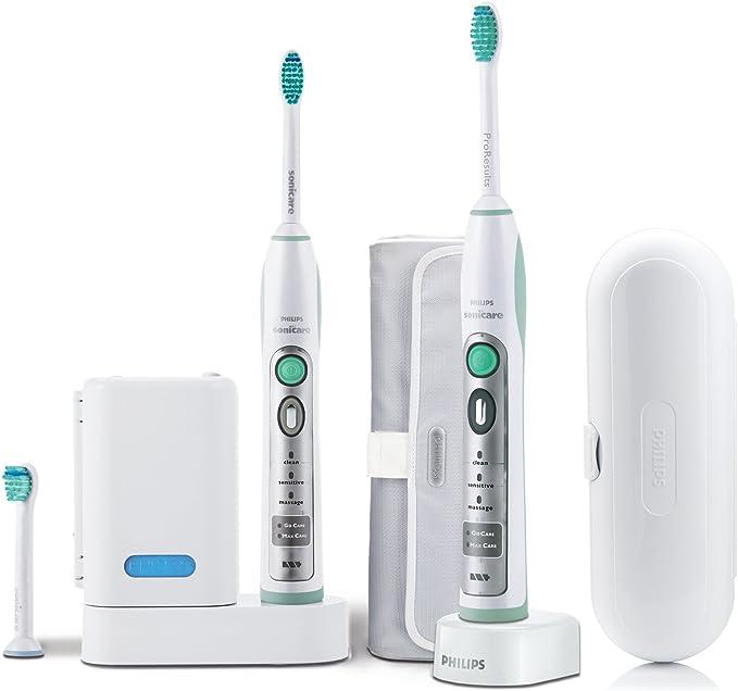 Philips HX 6932/34 Sonicare Flexcare - Cepillo de dientes eléctrico por ultrasonidos (2 mangos, 3 cabezales de repuesto estándar): Amazon.es: Salud y cuidado personal