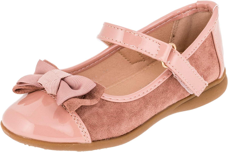 Doremi Edle Festliche Kinder M/ädchen Schuhe Freizeit und Party Ballerinas mit Schnalle und Schleife