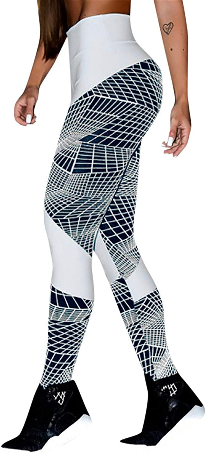 Thenxin Womens Yoga Leggings High Waist Casual Workout Sports Running Stretch Pencil Pants