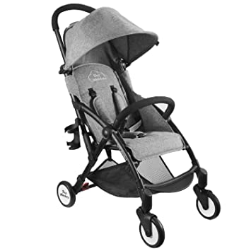 Single Baby Stroller with Dual-Brake Portable LightWeight Travel Pram with Large Canopy For  sc 1 st  Amazon.com & Amazon.com : Single Baby Stroller with Dual-Brake Portable ...