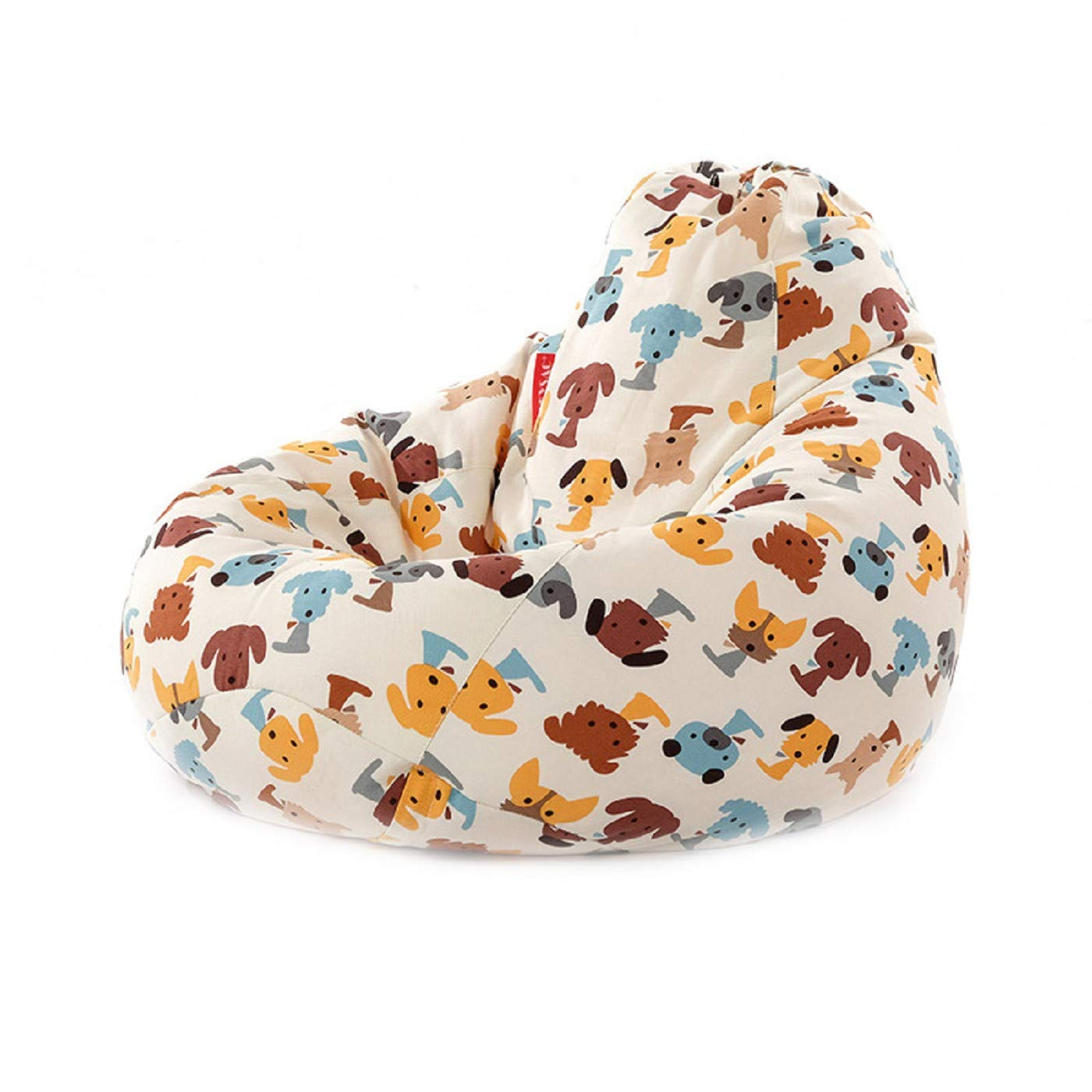MZS Tec Bean Bag Chair Cover, Kids' Stuffed Animal Storage Bags Coat Colorful Cotton Toy Organizer Bean Bag Coat (Pattern A)