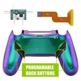 eXtremeRate Dawn Programable Remap Kit for PS4 Controller with Mod Chip & Redesigned Back Shell & 4 Back Buttons - Compatible with JDM-040/050/055 - Chameleon Green Purple (Color: Chameleon Green Purple)