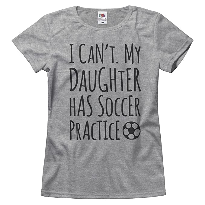 f715ece874d Amazon.com  Customized Girl This Mom s Daughter Has Soccer  Ladies Relaxed  Fit Basic T-Shirt  Clothing