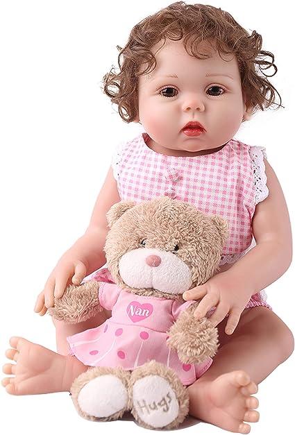 "18/"" Reborn Baby Girl Dolls Silicone Vinyl Full Body Xmas Gifts Doll Handmade"