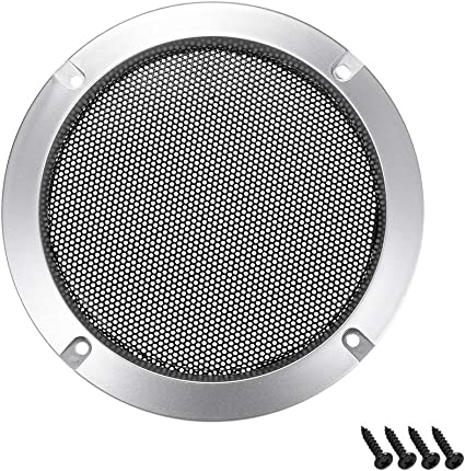 uxcell 2pcs 5 inches Speaker Grill Mesh Decorative Circle Woofer Guard Protector Cover Audio Accessories White