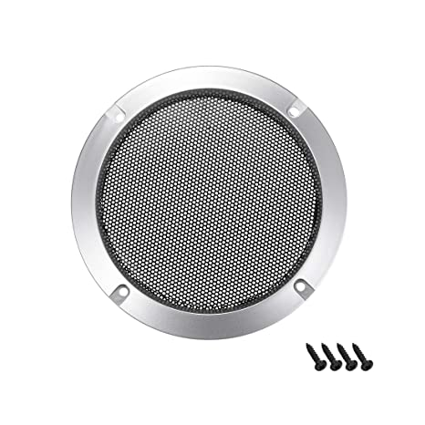 uxcell 4 inches Speaker Grill Mesh Decorative Circle Woofer Guard Protector Cover Audio Accessories Silver