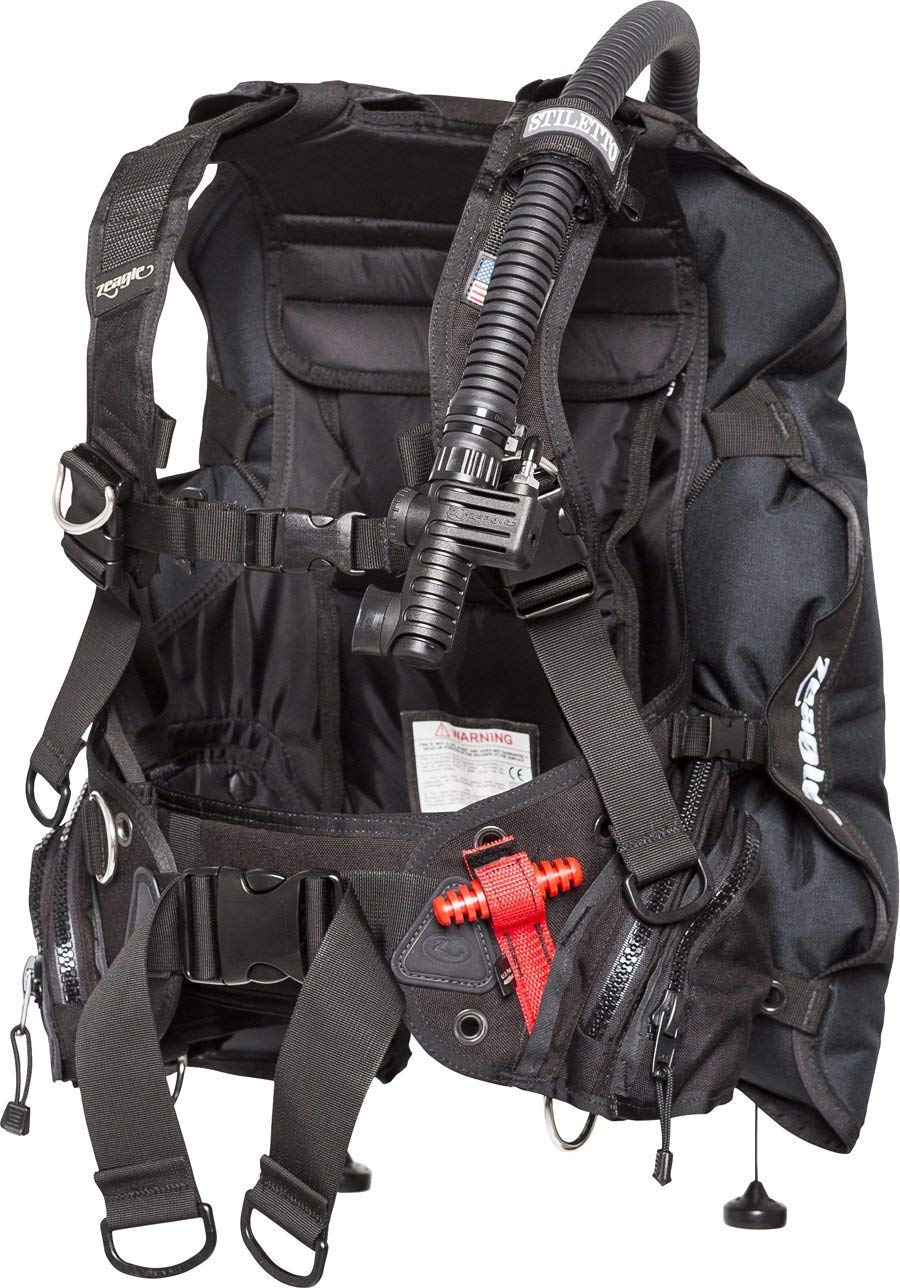 Zeagle Stiletto Travel Light Weight Integrated BCD W/Inflator, Hose and RE Valve (Small)