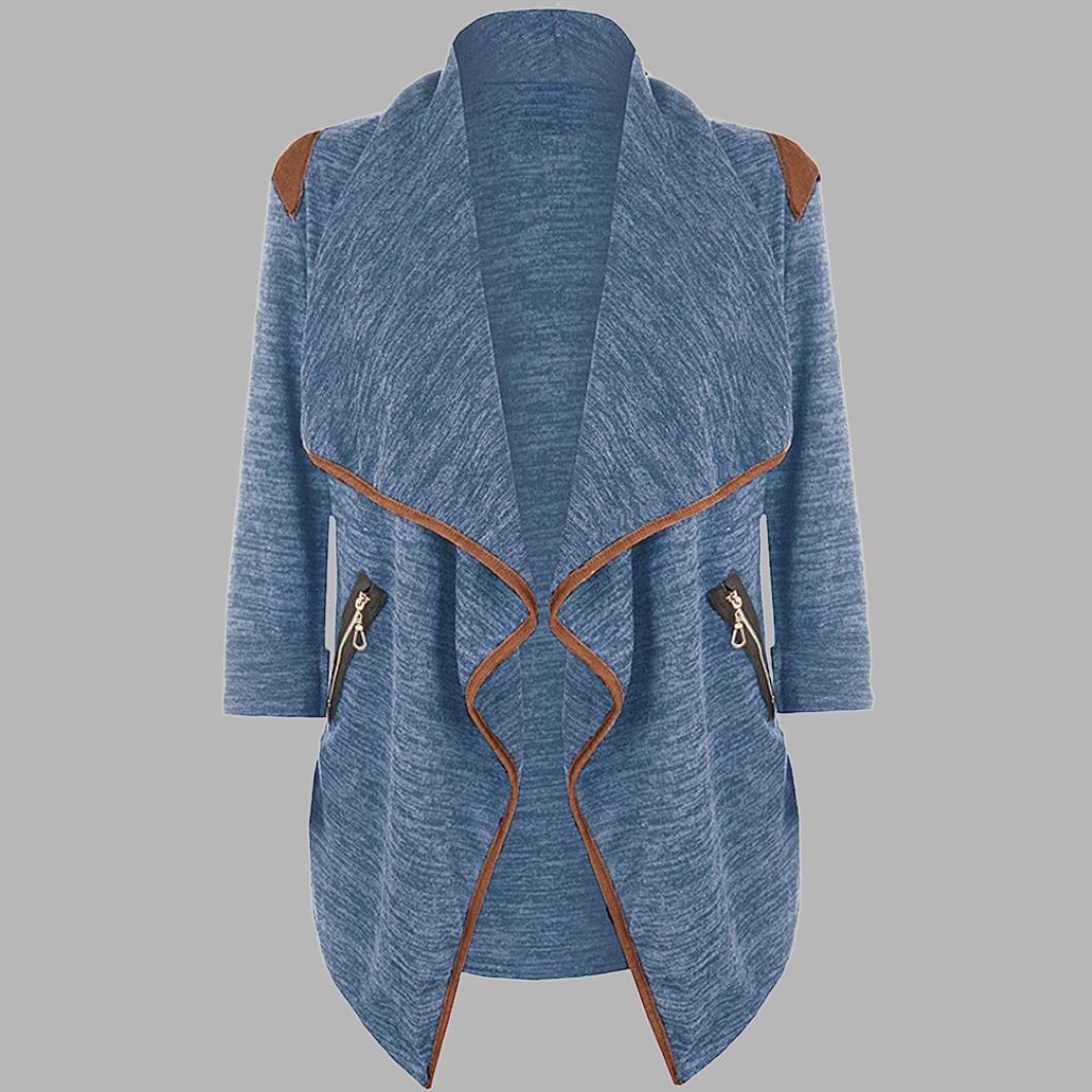 LLguz Womens Fashion Casual Knitted Long Sleeve Tops Cardigan Jacket Outwear