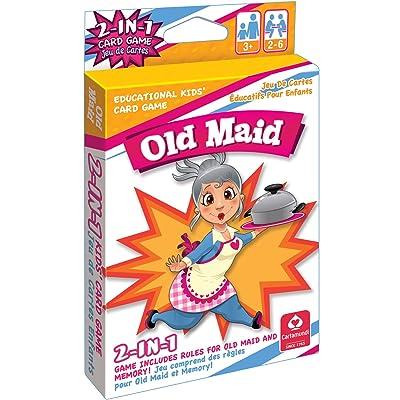 Kelli's Shop Cartamundi 1432 2 in 1 Card Games Old Maid & Memory Multicolor: Toys & Games
