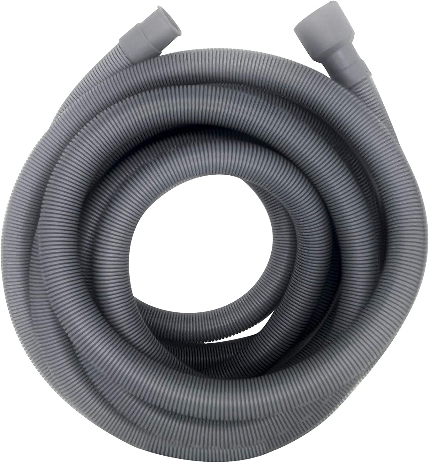 Servineart 16.4 ft Universal Washing Machine Drain Hose Flexible Dishwasher Drain Hose Extension Kits Corrugated Washer Discharge Hose with 1 Extension Adapter and 2 Hose Clamps