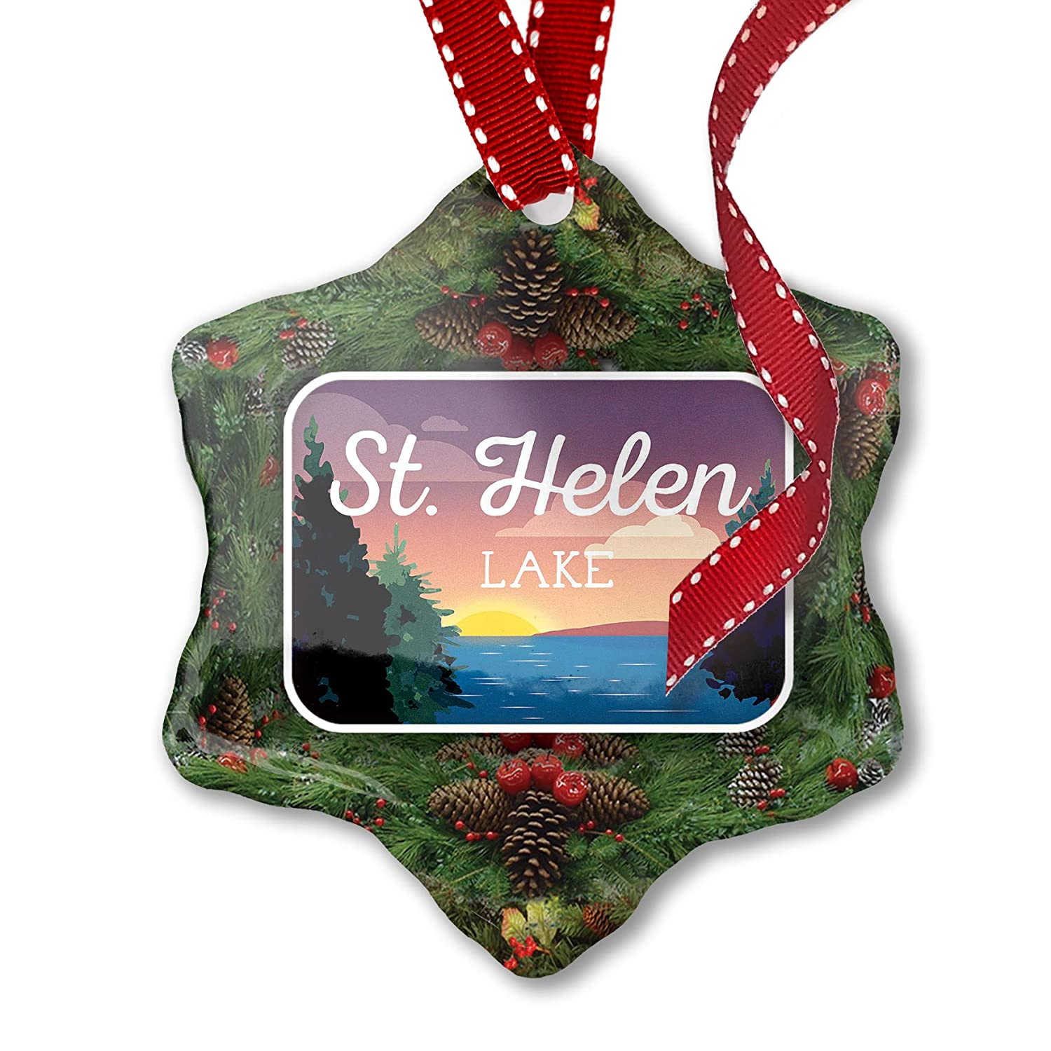 Helen Ga Christmas.Amazon Com Neonblond Christmas Ornament Lake Retro Design