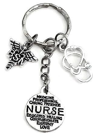 BSN llavero, llavero, diseño de enfermera, BSN encanto ...