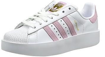 newest c08ce 298da adidas Women s Superstar Bold Trainers, (Footwear White Blue Wonder  Pink Gold Metallic
