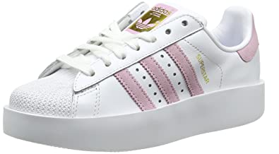 the latest 4fcb0 f3c6e Adidas Superstar Bold Platform Basket Mode Femme, Blanc (Footwear White Wonder  Pink