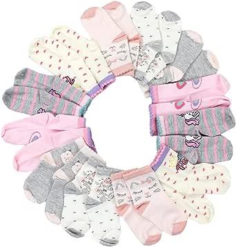 TupTam Calcetines sin Costuras con Estampar Niña Pack de 12