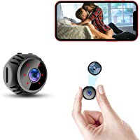 Mini Spy Camera WiFi 2021 Small Wireless Baby Monitor Home Security Surveillance Nanny Cam with Live Feed Phone APP…