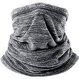 Jiele Bufanda multifuncional para hombre, cuello polar, calentador, bufanda, sombrero de invierno para deportes al aire libre, senderismo, motocicletas, ciclismo, esquí, máscara