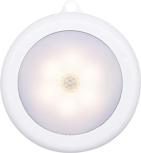 Hoteon Motion Sensor Light, Motion-Sensing Battery Powered LED Stick-Anywhere Nightlight,Wall Light for Entrance,Hallway,Basement,Garage,Bathroom,Cabinet,Closet (1, Warm Light)