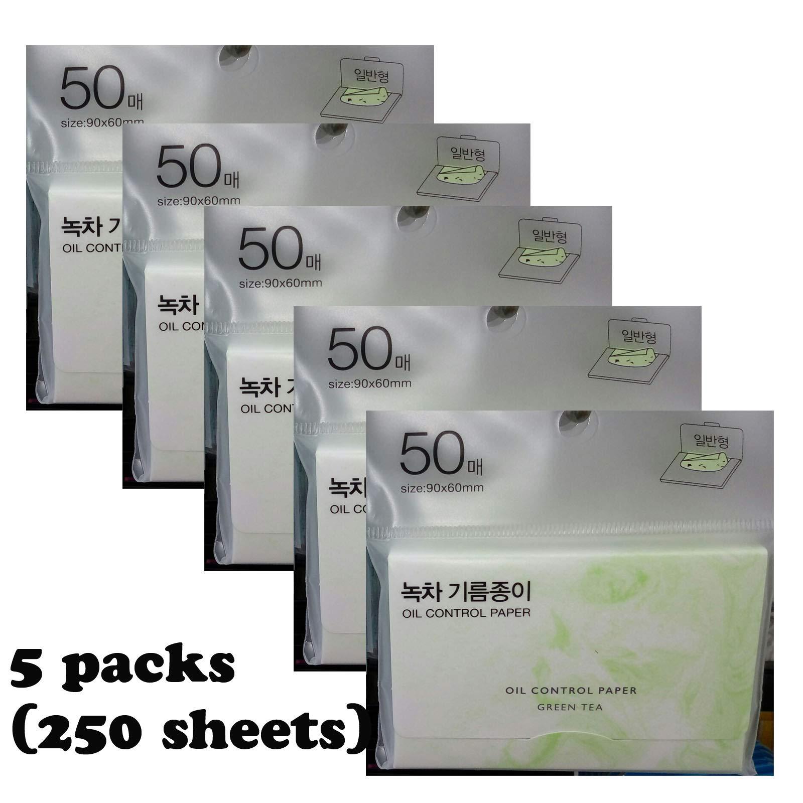 Oil Control Paper Green Tea 250 pcs Absorbing Tissue Face Blotting Made in Korea