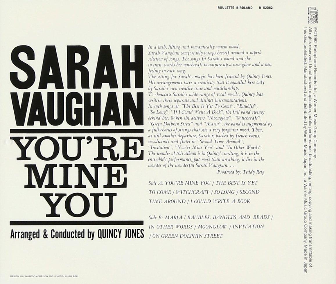 Sarah vaughan youre mine you amazon music stopboris Choice Image