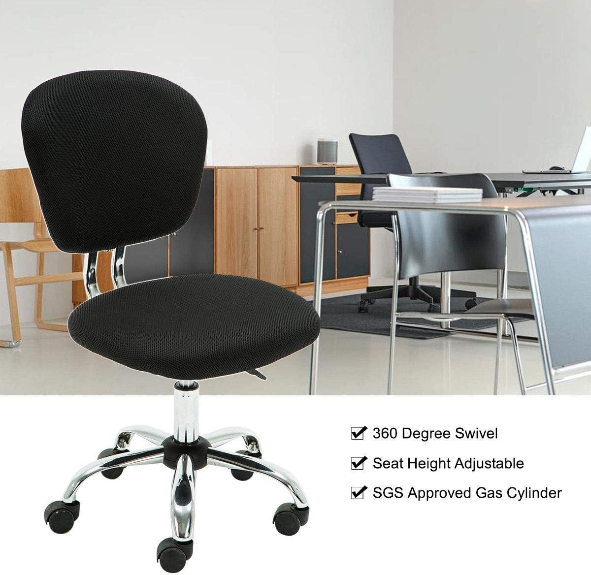 DESIGNER MESH CHROME ADJUSTABLE EXECUTIVE OFFICE COMPUTER DESK CHAIR SEAT FABRIC