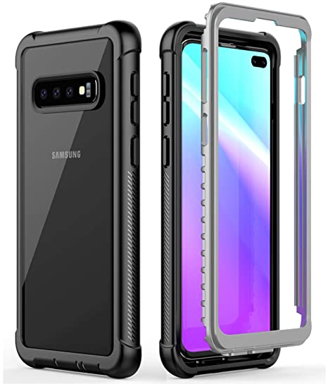8d4e1125a1 Samsung Galaxy S10 Plus/S10 Case,Vapesoon Rugged Clear Cover Without Screen  Protector Shock