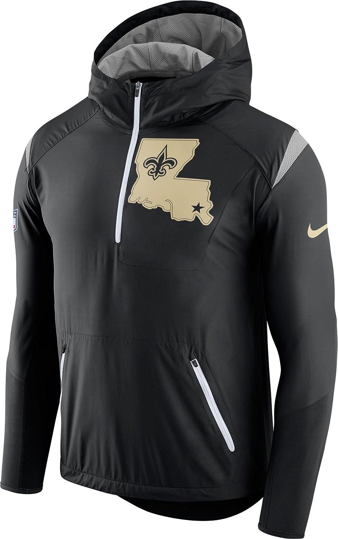 Nike Hombres Orleans Saints diseño 2017 Fly Rush Negro Chaqueta de ...