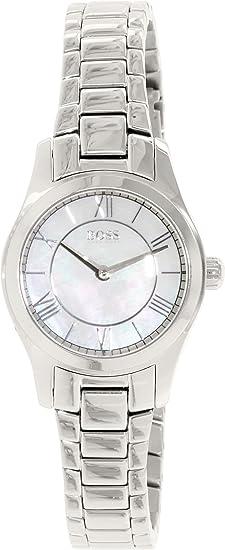 bb5a011e2cef Hugo Boss Reloj analogico para Mujer de Cuarzo con Correa en Acero  Inoxidable 1502377  Amazon.es  Relojes