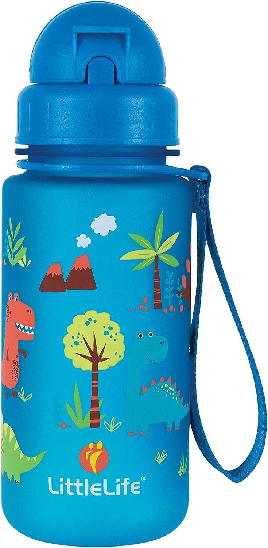 LittleLife Water Bottle-Dinosaurs Brown 400ml Unisex-Baby