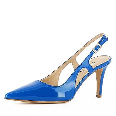 Jessica Damen Sling Pumps Lack blau 35  Amazon.de  Schuhe   Handtaschen 6a14ba69ae
