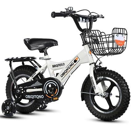 YIHANGG Bicicleta para Niños Bicicleta para Niños Ajustable Ligero ...