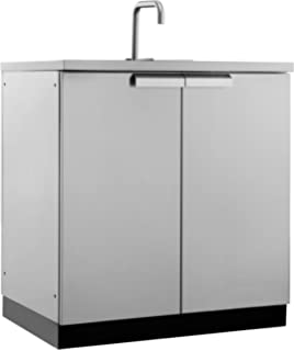 outdoor kitchen cart diy newage 65001 outdoor kitchen storage sink cabinet stainless steel amazoncom new age 65007 products 32
