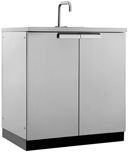 New Age 65001 Outdoor Kitchen Storage, Sink Cabinet, Stainless Steel