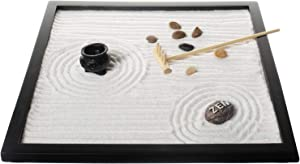 Zen Garden, Sand and Rock Zen Garden with Rake by Tatum and Shea (Zen Tabletop Sand)