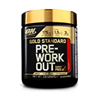 Optimum Nutrition Gold Standard Pre Workout Energy Powder Drink with Creatine Monohydrate, Beta Alanine, Caffeine & Vitamin B Complex by ON - Fruit Punch, 30 Servings, 330g
