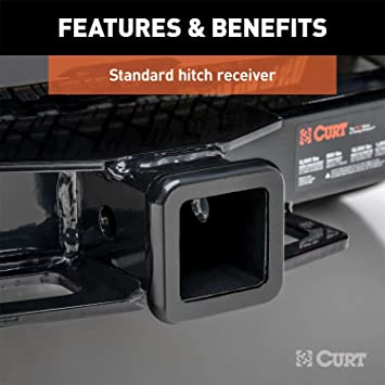 CURT 31067 Front Hitch with 2-Inch Receiver Fits Select Ram 3500